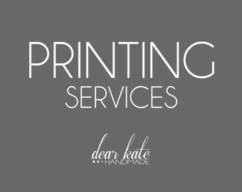 Card Printing Service 4x6, 5x7, Single Sided or Double Sided