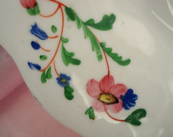 Vintage Luncheon Plate Hand-painted Floral China Luncheon Salad Tea Plate Shabby Cottage Chic Vintage Wedding