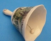 Bell, Fine China Bell, Dinner Bell, Collectable Bell by Currier & Ives Limited Edition 1979.