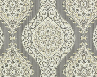 Grey ogee fabric – Etsy