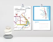A Year Underground 2016 Wall Calendar - World City Subway Maps - Limited Edition
