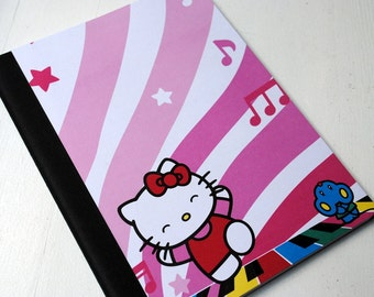 Hello Kitty Music Lover Full Sized, Altered Composition Notebook