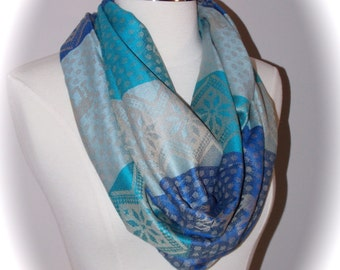 Reindeer Christmas scarf/blue Christmas scarf