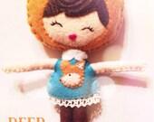 Poseable Deer Girl Doll. Woodland Animal. Animal Softie. Plushie. Noia Land.
