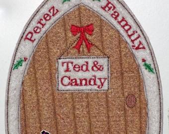 Elf Door - Personalized Elf Door - Elf Accessories - Christmas Elf - Santa's Door Secret Elf Door, North Pole Door