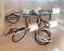 Ceramic Light Socket Set of 5  Replacement Light Bulb Socket Adapter