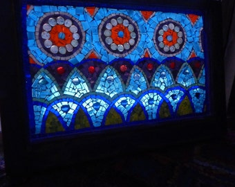 SOLD Vintage window stained glass mosaic