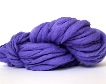 Wool Yarn Thick and Thin Yarn Hand Spun Yarn Wool Yarn  TTS Super Bulky Yarn Big Thick Yarn Natural Wool Yarn Hand Knitting  Lavender Color