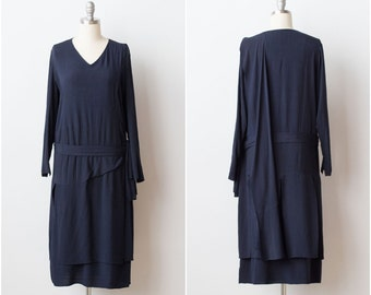 Vintage 1920s Silk Dress MUSEUM QUALITY / 1910s 1920s Flapper Gatsby Downton Abbey X Small to S Small xs Black Dress LBD