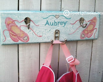 Dance Ballet Dancing Ballerina Custom Colors Girls Room Decor Little Princess Kids  Dance Studio Wall Hooks Personalized Dancer Nursery Art