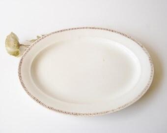 Antique Harker Pottery Platter, Large Vintage Ironstone Platter, 19th Century Transferware Ironstone Platter