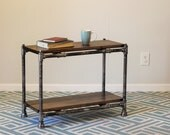 Pipe and Wood End Table