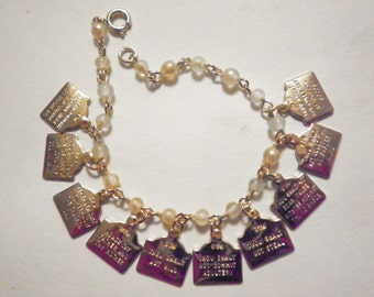 2 Vintage Ten Commandment Children's Bracelets
