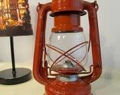 Vintage Lantern made in Japan  Orange color