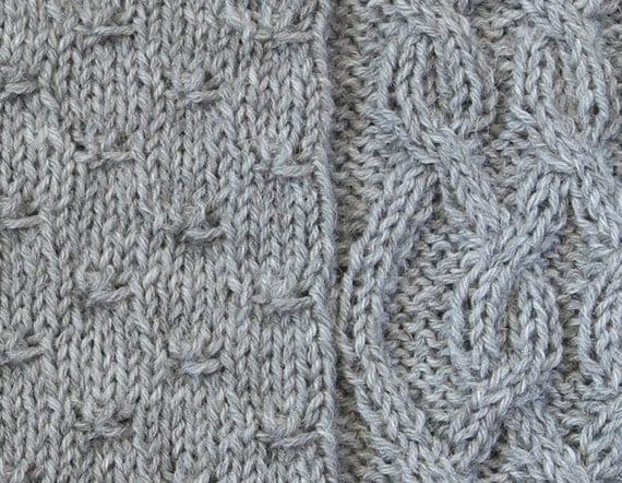 Scarf Knitting Patterns Instructions : Pdf knitting pattern wildflower cowl scarf