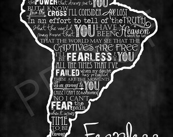 "Chalkboard Art - South America with ""Fearless"" by Building 429"
