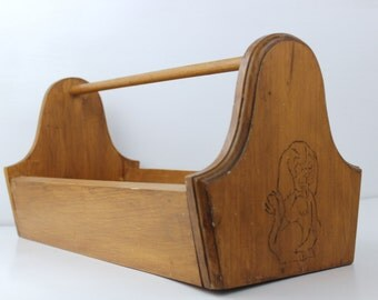 Vintage Dog Grooming Caddy Treat Caddy