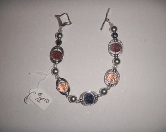 Swarovski crystal bracelet with toggle clasp
