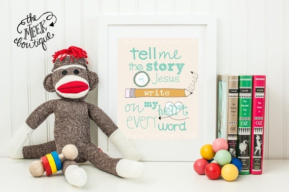 INSTANT DOWNLOAD, Tell Me the Story of Jesus Printable, No. 72