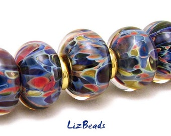 SRA Handcrafted Borosilicate Artisan Lampwork Bead Set - BLUE GROTTO