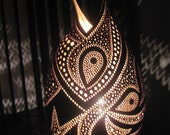 Handcrafted art deco gourd table lamp