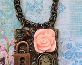 The Olden Days Mixed Media Necklace On Etsy