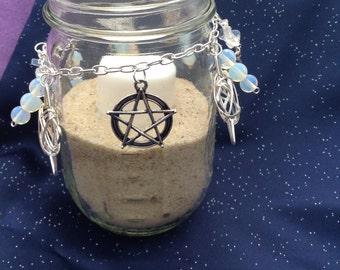 Goddess Magick Charm Ring Mason Jar Candle