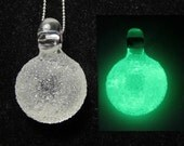 Glass Pendant - Sugar Crush - Glow in the Dark No. 1