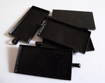 10 x Rectangle Black pendant trays