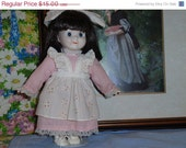 SALE Vintage Doll Porcelain Annabelle Mid Century Blue Eyed Beauty