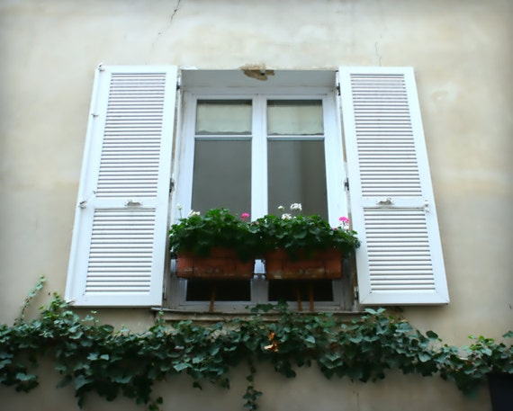 Paris France Country French Decor Distressed Shutters
