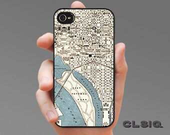 Vintage DC Map iPhone Case for iPhone 6, iPhone 6 Plus, iPhone 5/5s, iPhone 5c or iPhone 4/4s, Samsung Galaxy s5, Galaxy s4, Galaxy s3