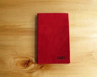Crimson Suede Vow Book