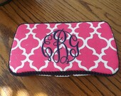 A decorated travel wipes case handy for babies ,children even adults to have in car or purse .Monogram makes it a great gift