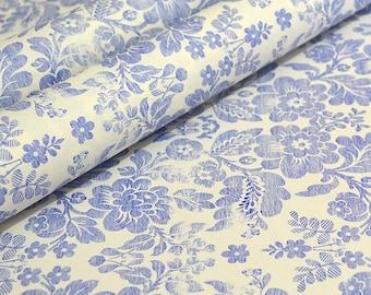 Fine Decorative Italian Paper - Blue Brocade by Rossi