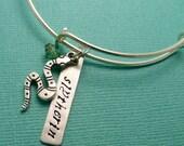 Harry Potter Inspired - Slytherin - Adjustable Bangle Bracelet