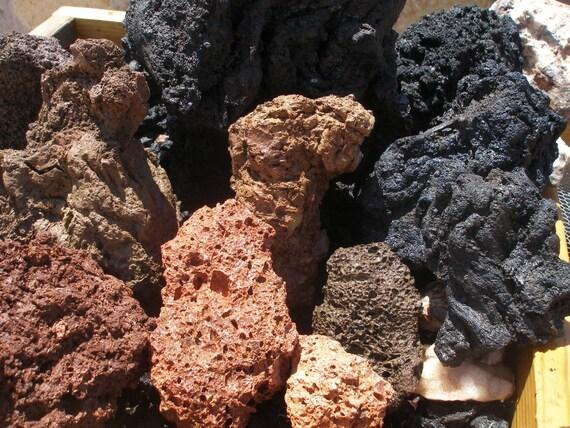 Large Aquarium Stones : Aquarium lava rocks aquascaping multi by thirdplanettreasures