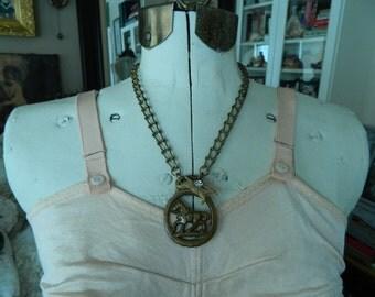 Horse Lover Assemblage Necklace Vintage