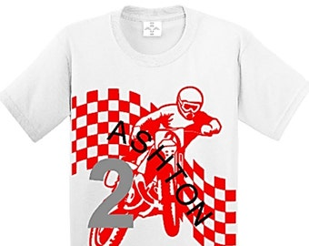 Dirt Bike, Dirt Track Racing, Dirt Bike Party, Dirt Bike Birthday, Boys Birthday Shirt, Personalized Birthday Shirt