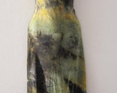 CLEARANCE SALE comfortable stylish tie dyed dress in greeny yellow hues... ...