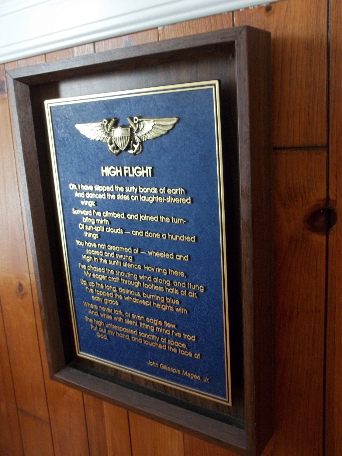 High Flight Plaque Wwii Sonnet Poem On Aviation Amp Pilots By