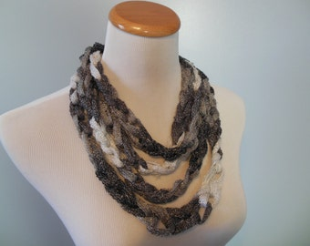Silver Chain Fashion Scarf