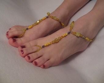 Saffron Yellows Barefoot Sandals