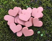 3 'Sweet Hearts,' Brown Sugar Saver Hearts, set of 3, terra cotta clay
