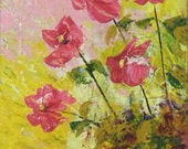 Pretty in Pink on Canvas Board One of a Kind