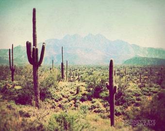 Wild Wild West - Southwest photograph, Western decor, desert landscape, Arizona, vintage, retro, fine art photo