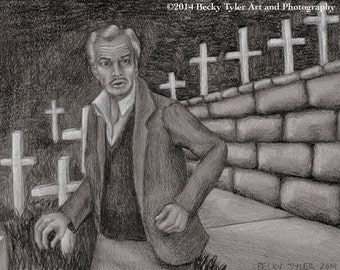 Vincent Price in The Last Man on Earth Fine Art Print