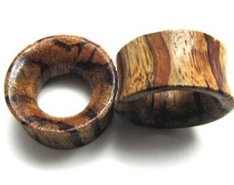 Pair of ZebraTunnel Wood Plugs