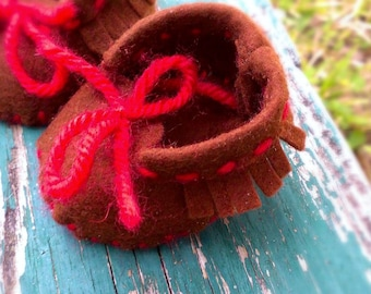 Waldorf Doll Shoes - Moccasins