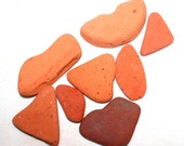 terracotta beach pottery sea pottery clay shards jewelry and arts and crafts supplies